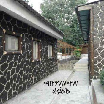 طرح سنگ و چوب | انواع تصاویر نما سیمانی و نمای ویلایی