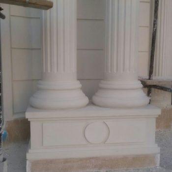 ستون سیمانی | انواع نمونه کارهای ستون ساختمان و ستون نما با طرح های مختلف